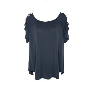 Cloud Chaser   Short Sleeve Top w/Shoulder Cutouts